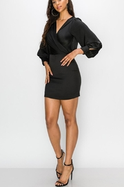 Favlux Bell Sleeve Dress - Back cropped