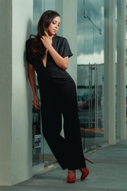 Favlux Black V Jumpsuit - Product Mini Image
