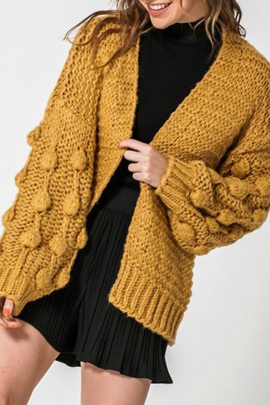 ALB Anchorage Bobble Cardigan - Front Cropped Image