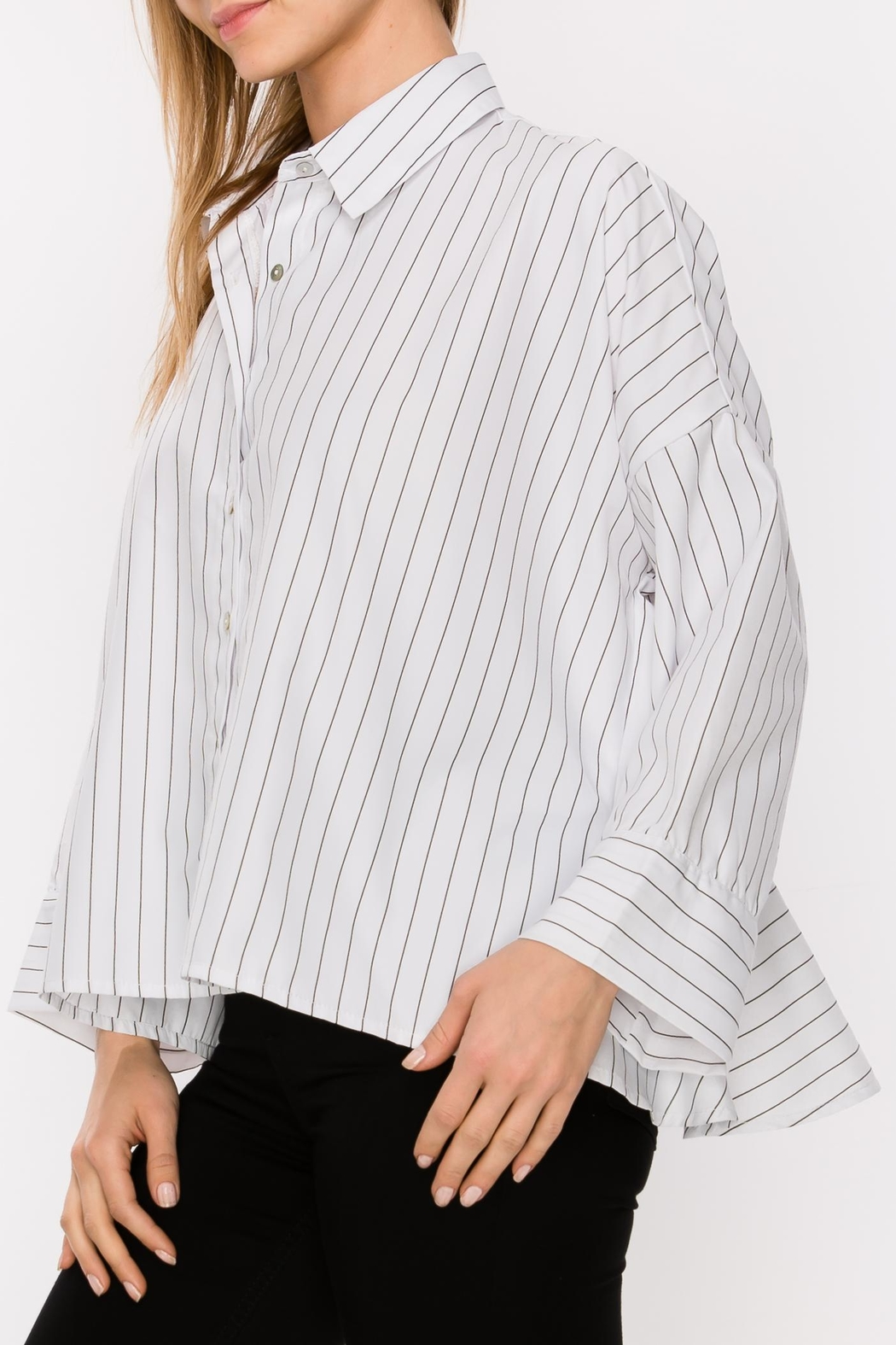 Favlux Button Down Blouse - Front Full Image
