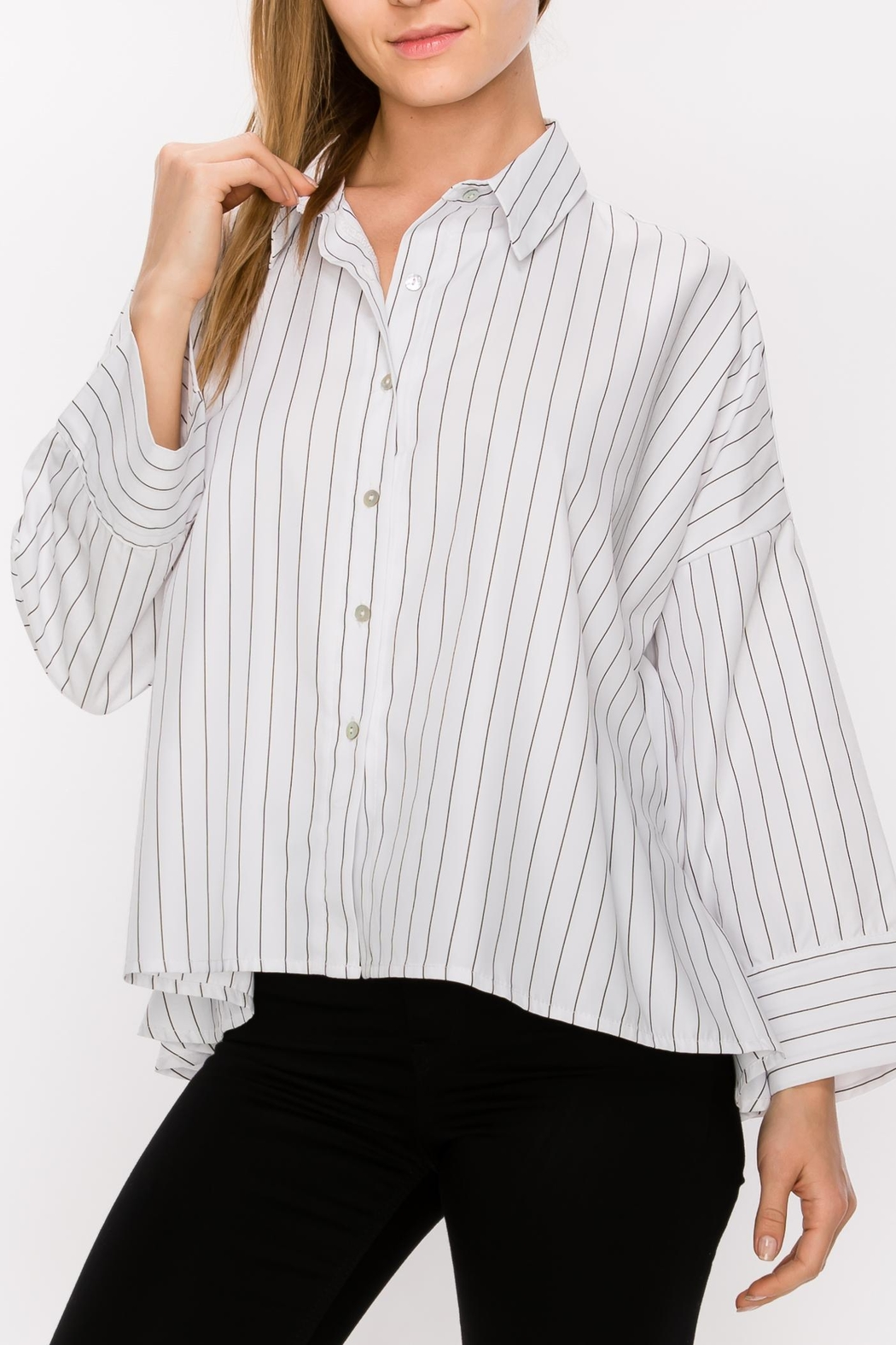 Favlux Button Down Blouse - Front Cropped Image