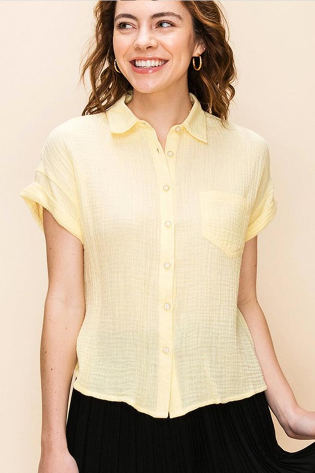 Favlux Button Up Shirt - Front Cropped Image
