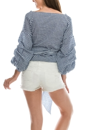 Favlux Check Tie Top - Front full body