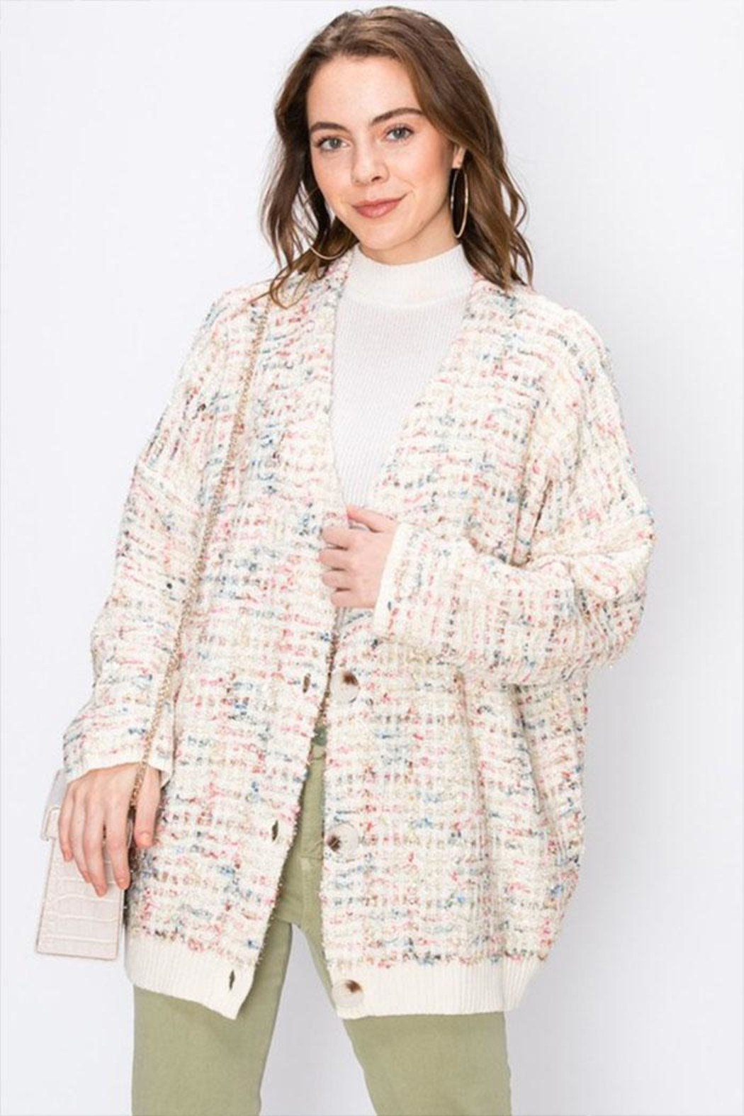 Favlux Colorful Sparkly Cardigan - Main Image