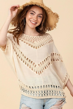 Shoptiques Product: Crochet Dolman Top