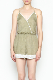 Favlux Crochet Trim Romper - Front full body
