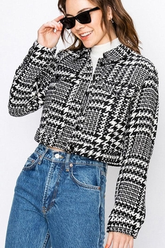 Shoptiques Product: Cropped Houndstooth Jacket