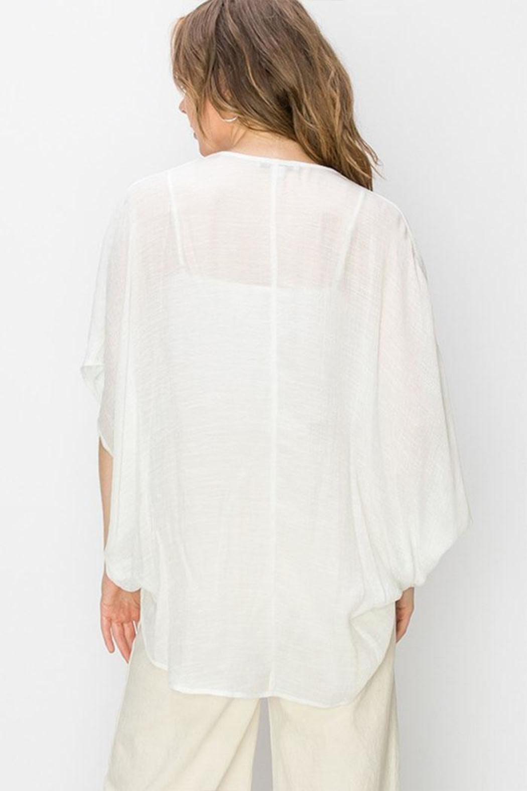 Favlux Crossover Poncho Blouse - Side Cropped Image