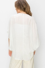 Favlux Crossover Poncho Blouse - Side cropped