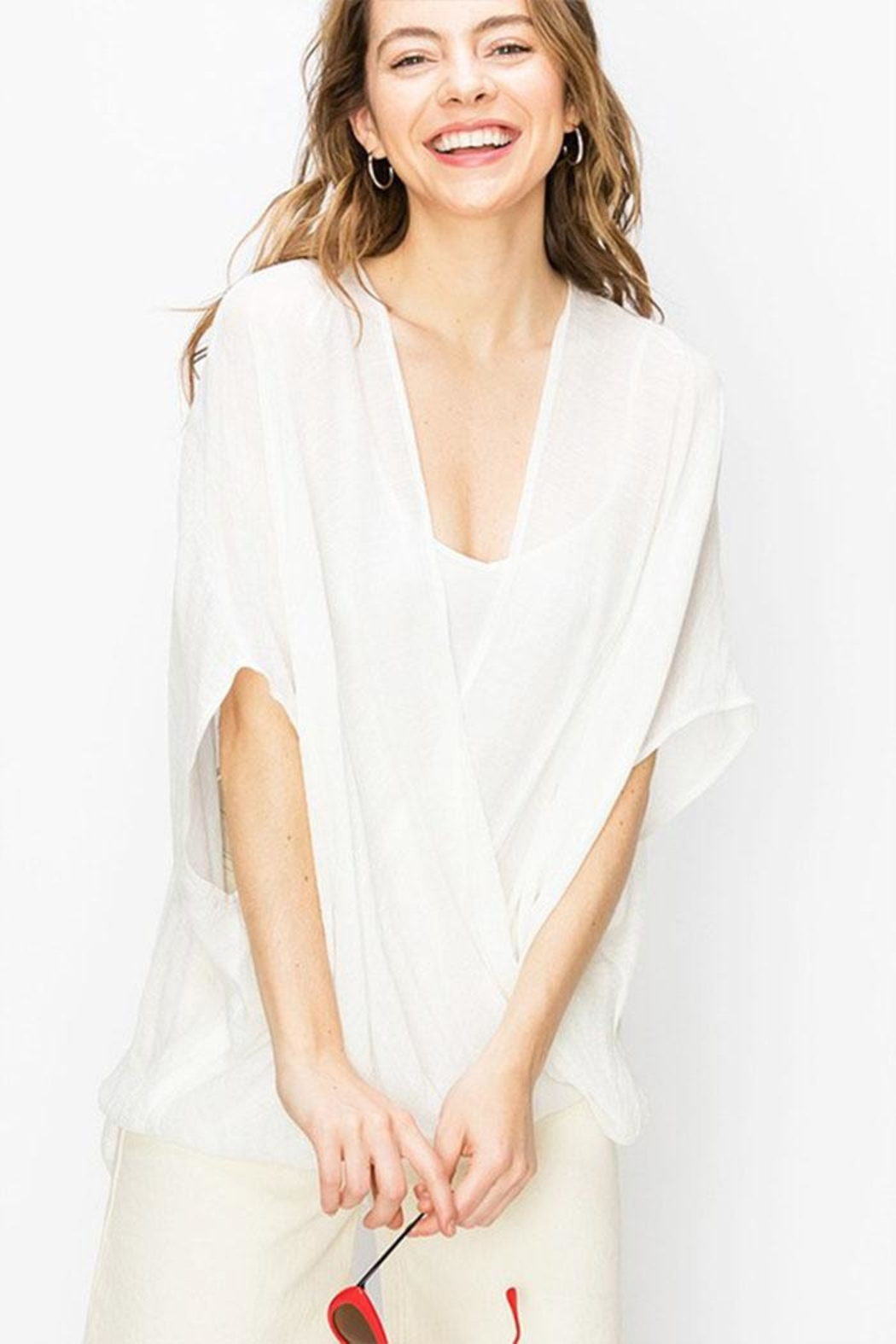 Favlux Crossover Poncho Blouse - Main Image