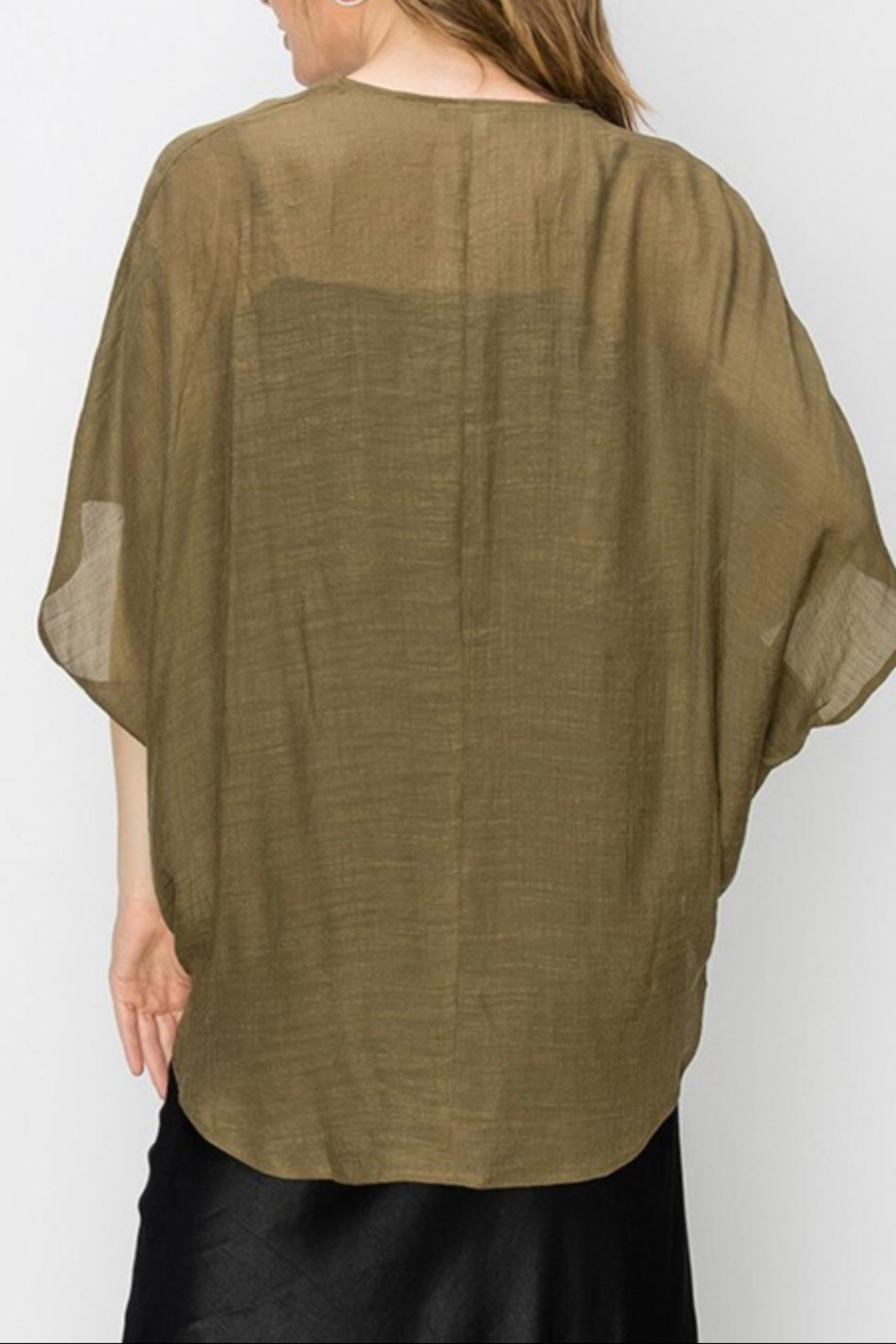 Favlux Crossover Poncho Blouse - Front Full Image