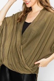 Favlux Crossover Poncho Blouse - Front cropped