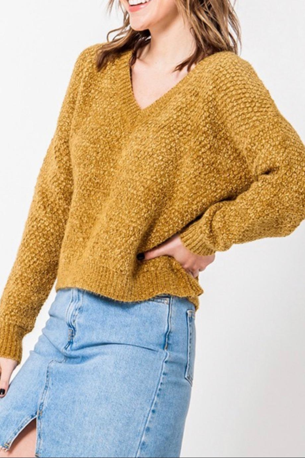 Favlux Drop Shoulder Sweater - Front Full Image
