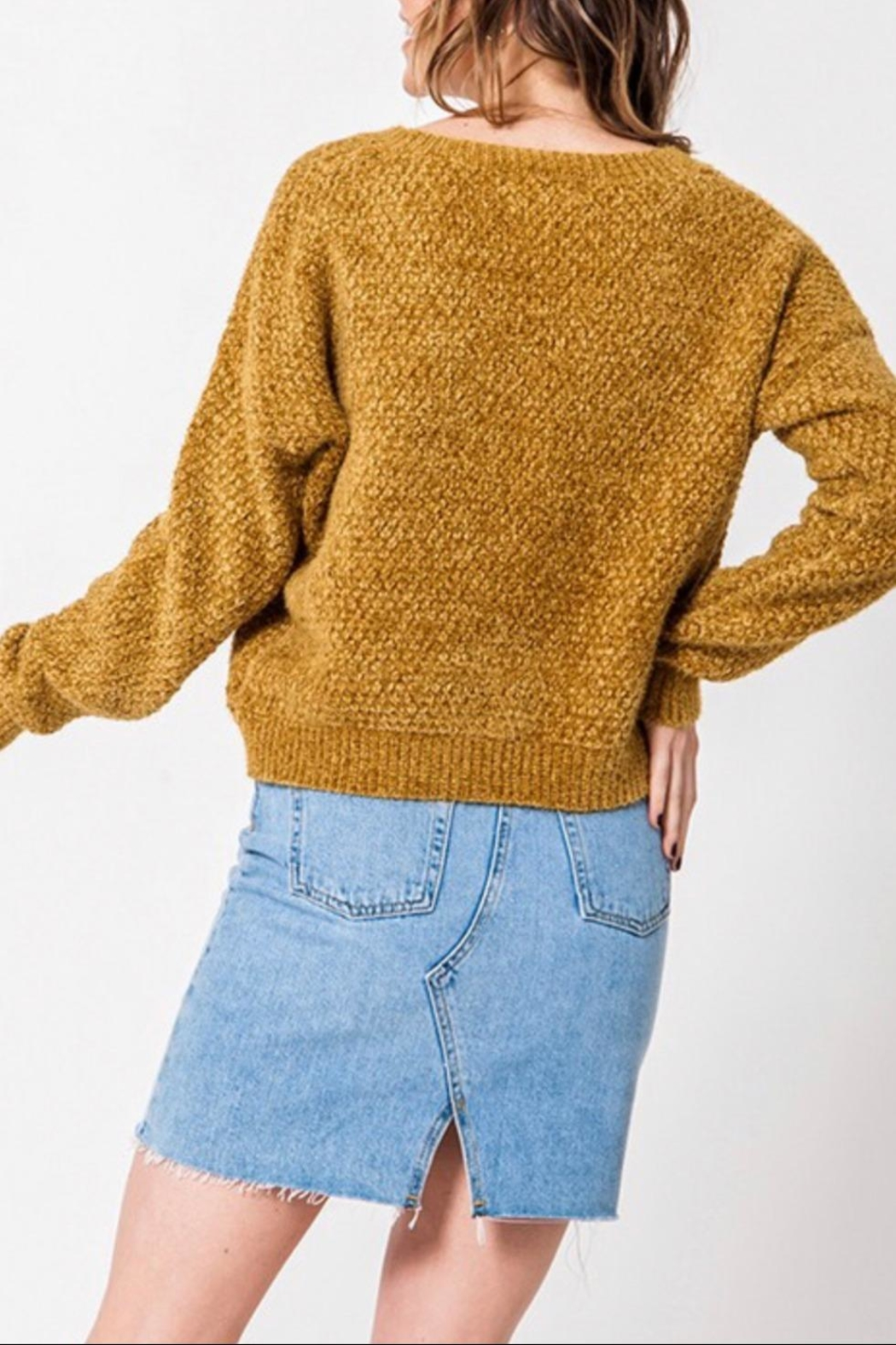 Favlux Drop Shoulder Sweater - Side Cropped Image