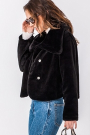 Favlux Faux-Fur Cropped Jacket - Front full body