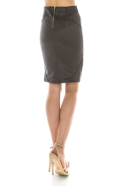 Favlux Faux Suede Skirt - Front full body