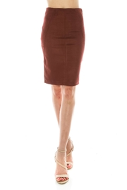 Favlux Faux Suede Skirt - Front cropped