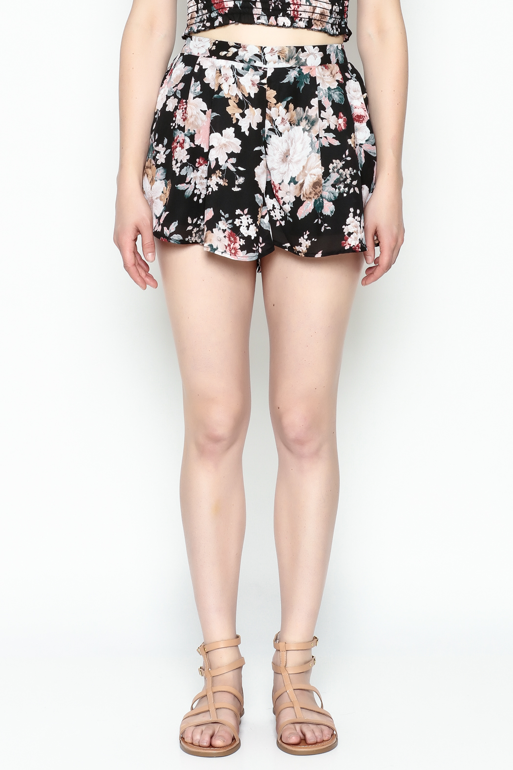 Favlux Floral Print Shorts - Front Cropped Image