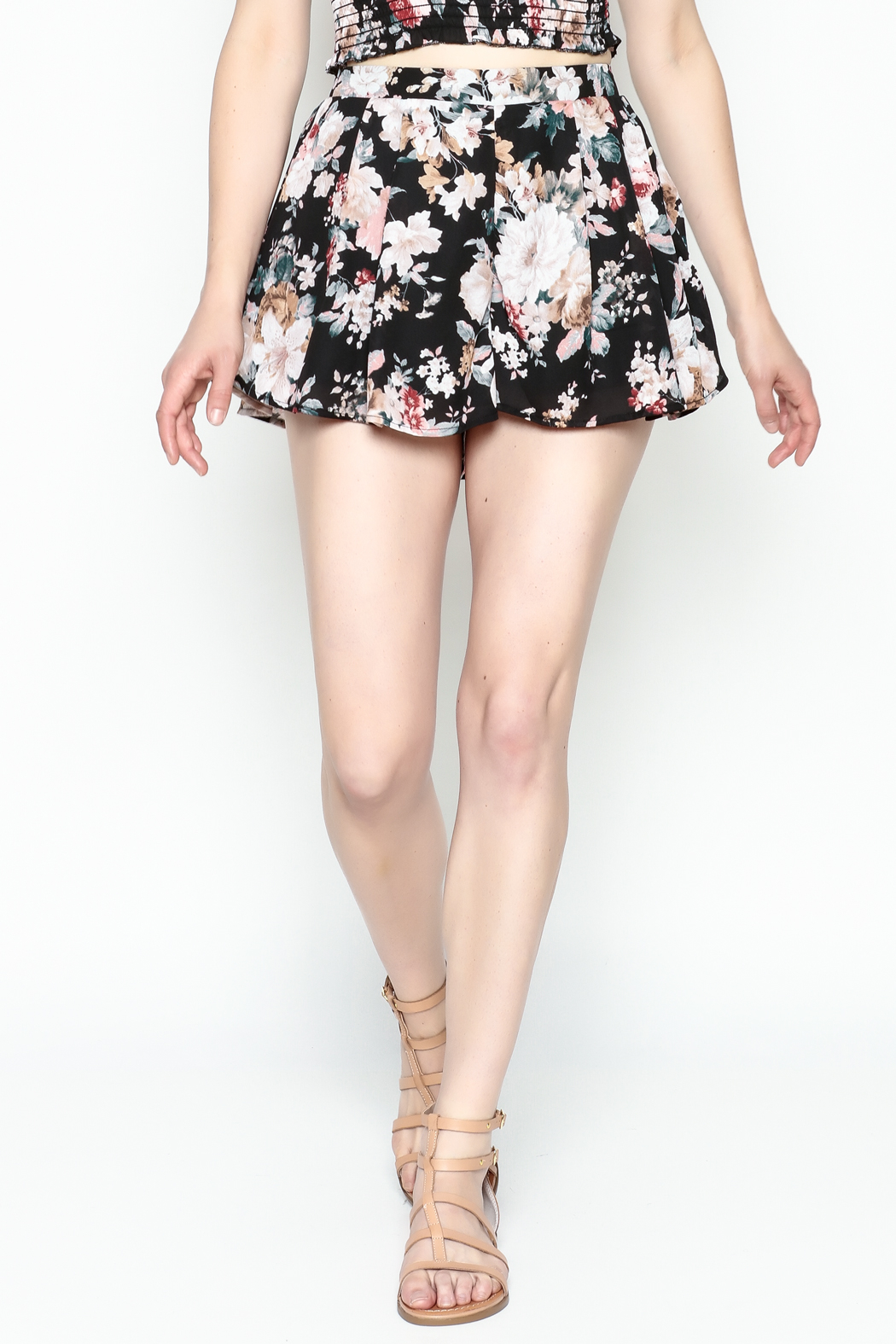 Favlux Floral Print Shorts - Side Cropped Image