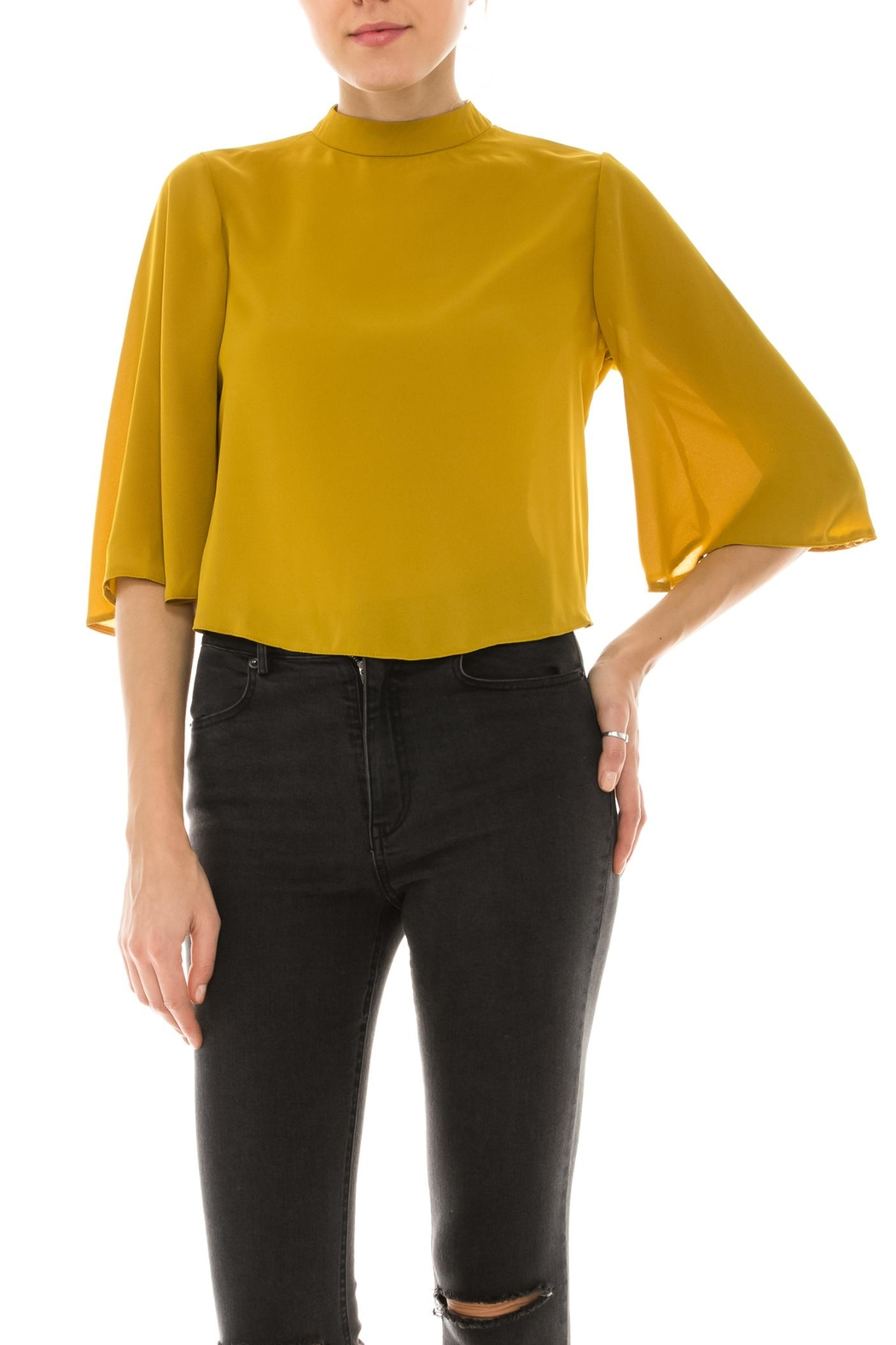Favlux Flowy Back Top - Front Cropped Image