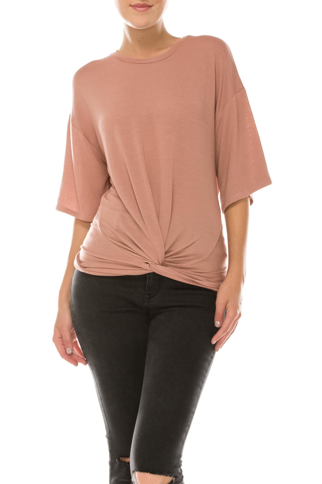 Favlux Front Tie Tee - Front Cropped Image