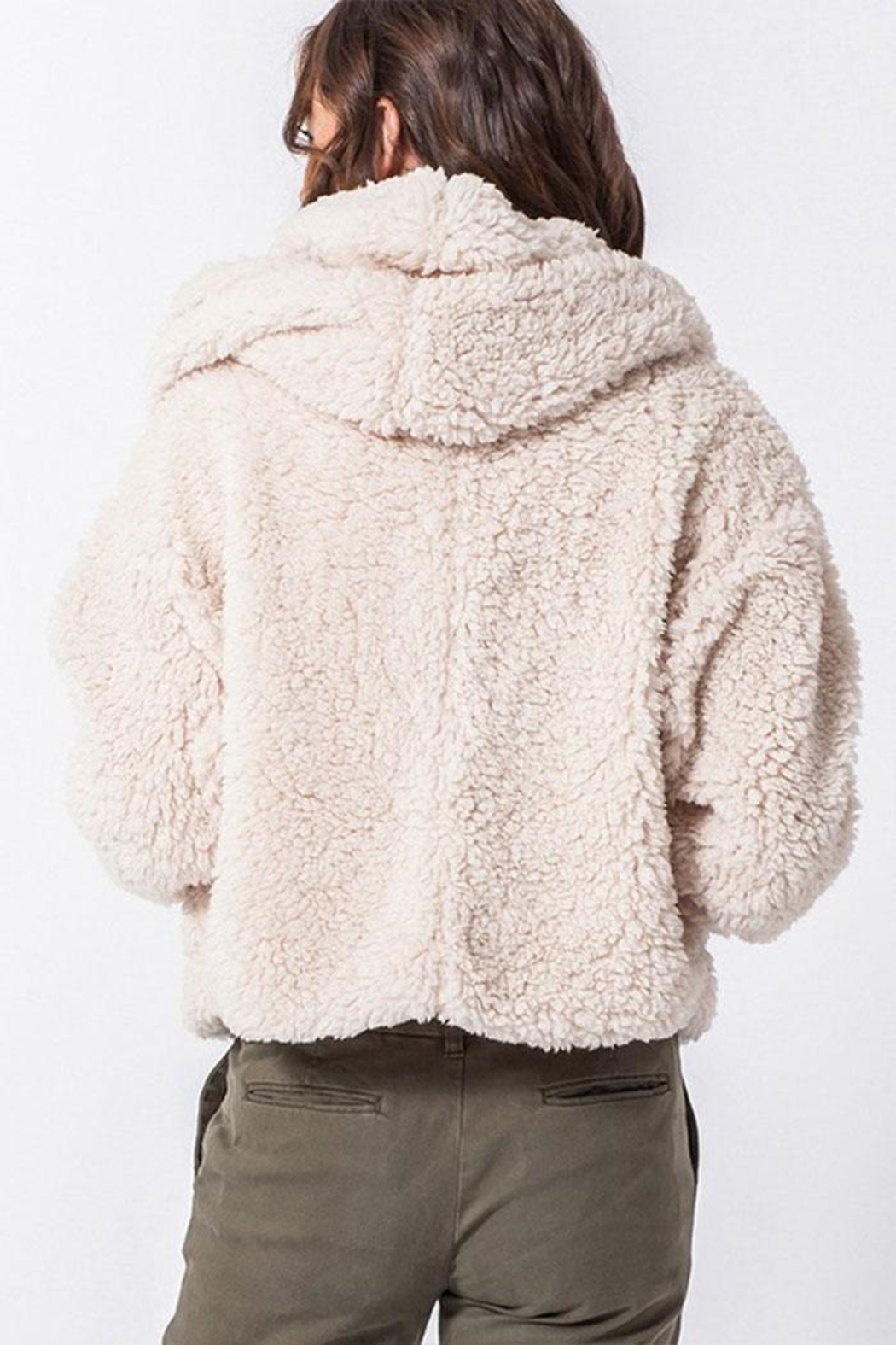 Favlux Hooded Teddy Coat - Side Cropped Image