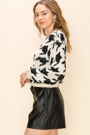 Favlux Houndstooth Crew Sweater - Front full body