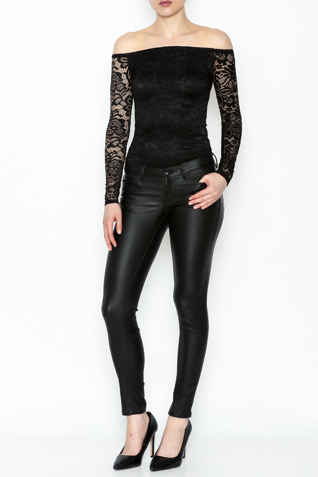 Favlux Lace Bodysuit - Side Cropped Image