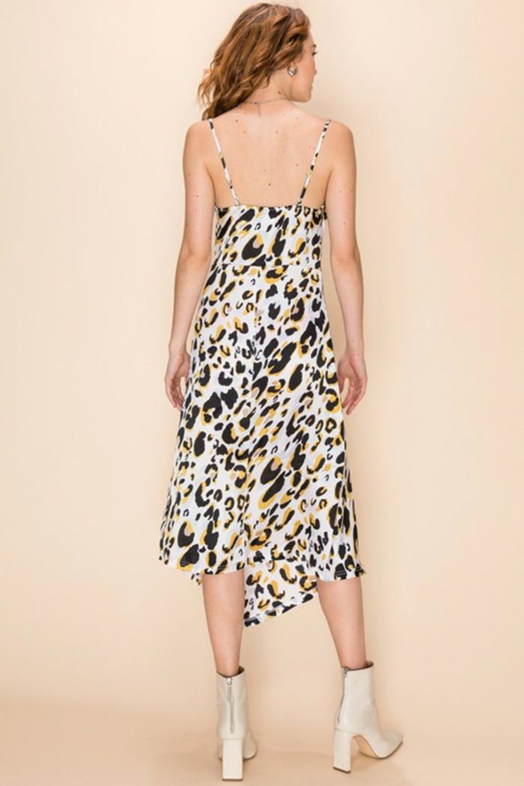 Favlux Leopard Midi Dress - Front Full Image