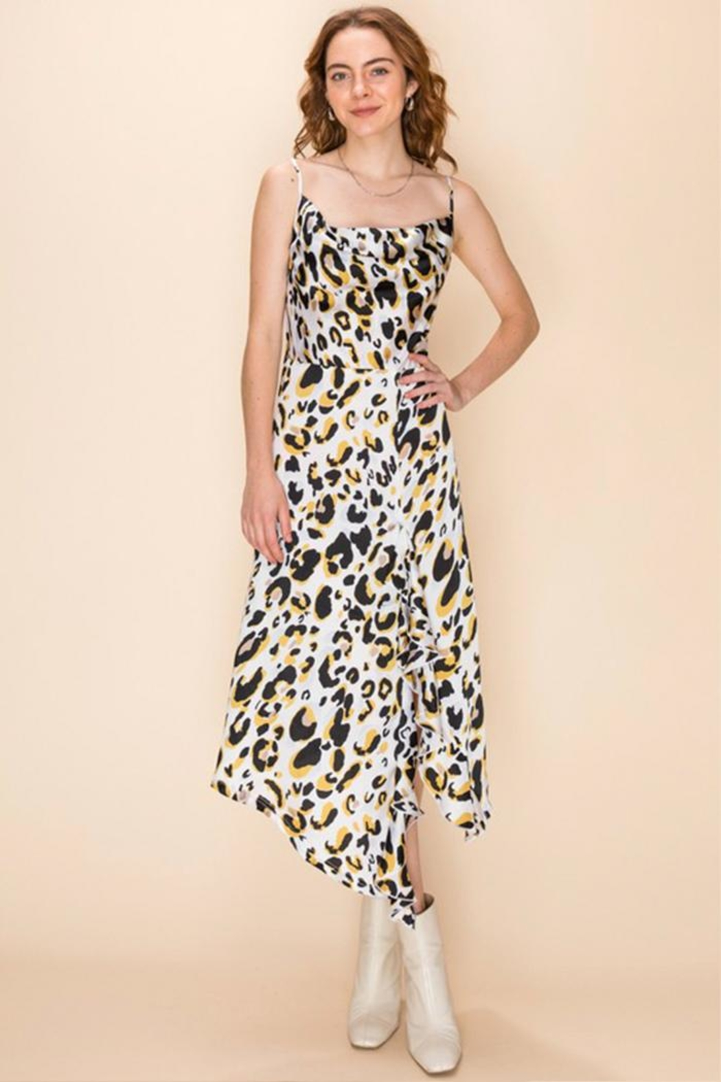 Favlux Leopard Midi Dress - Main Image