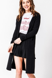 Favlux Long Black Cardigan - Product Mini Image