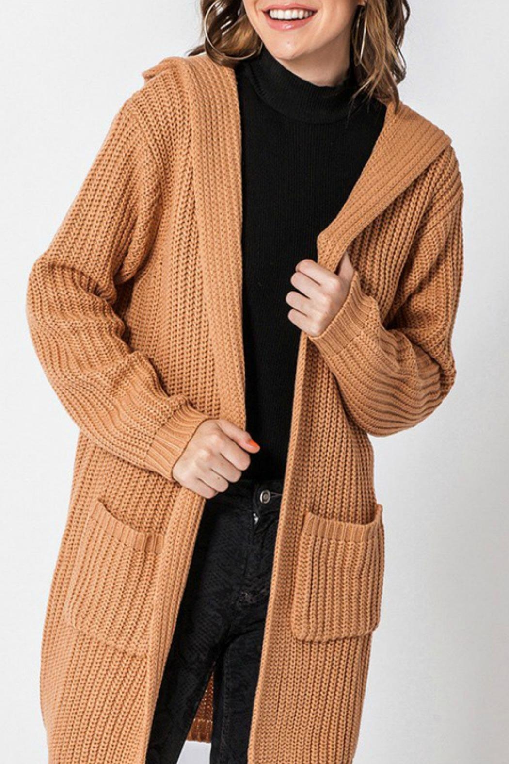 Favlux Madison Hooded Cardigan - Front Full Image