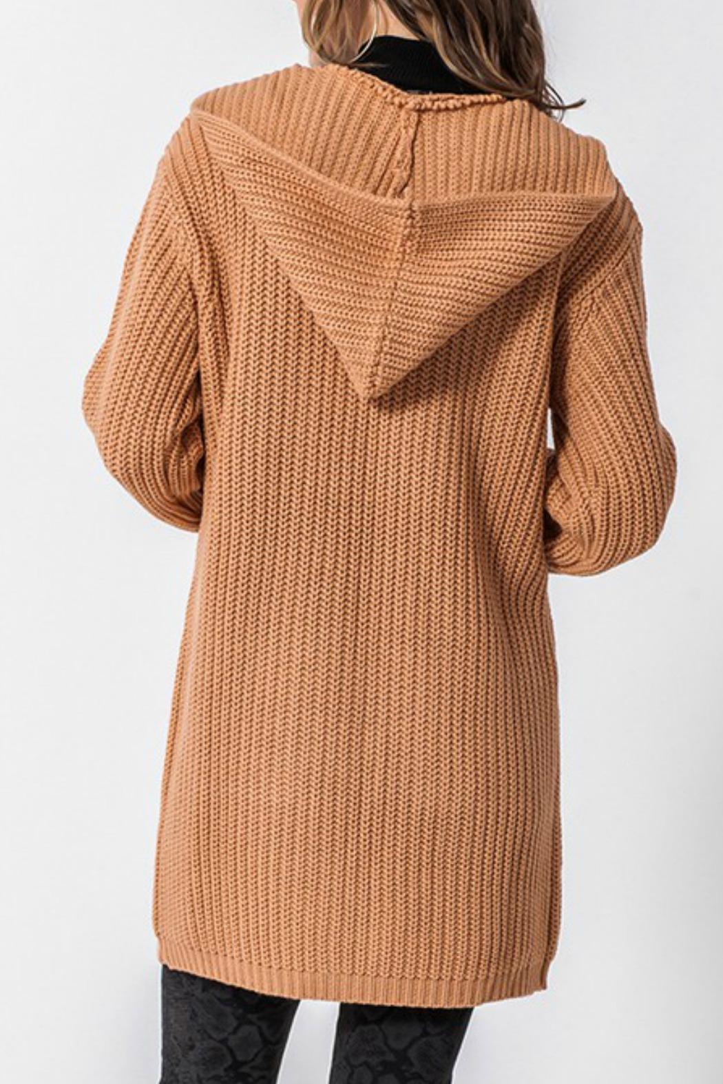 Favlux Madison Hooded Cardigan - Side Cropped Image