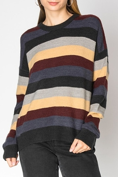 Favlux Multicolored Striped Sweater - Product List Image