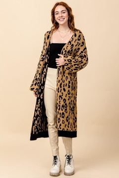 Shoptiques Product: Open-Front Print Cardigan