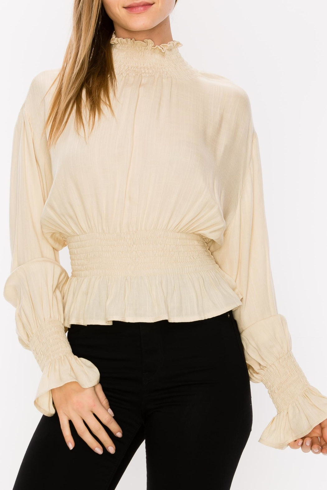 Favlux Pleated Blouse - Front Full Image