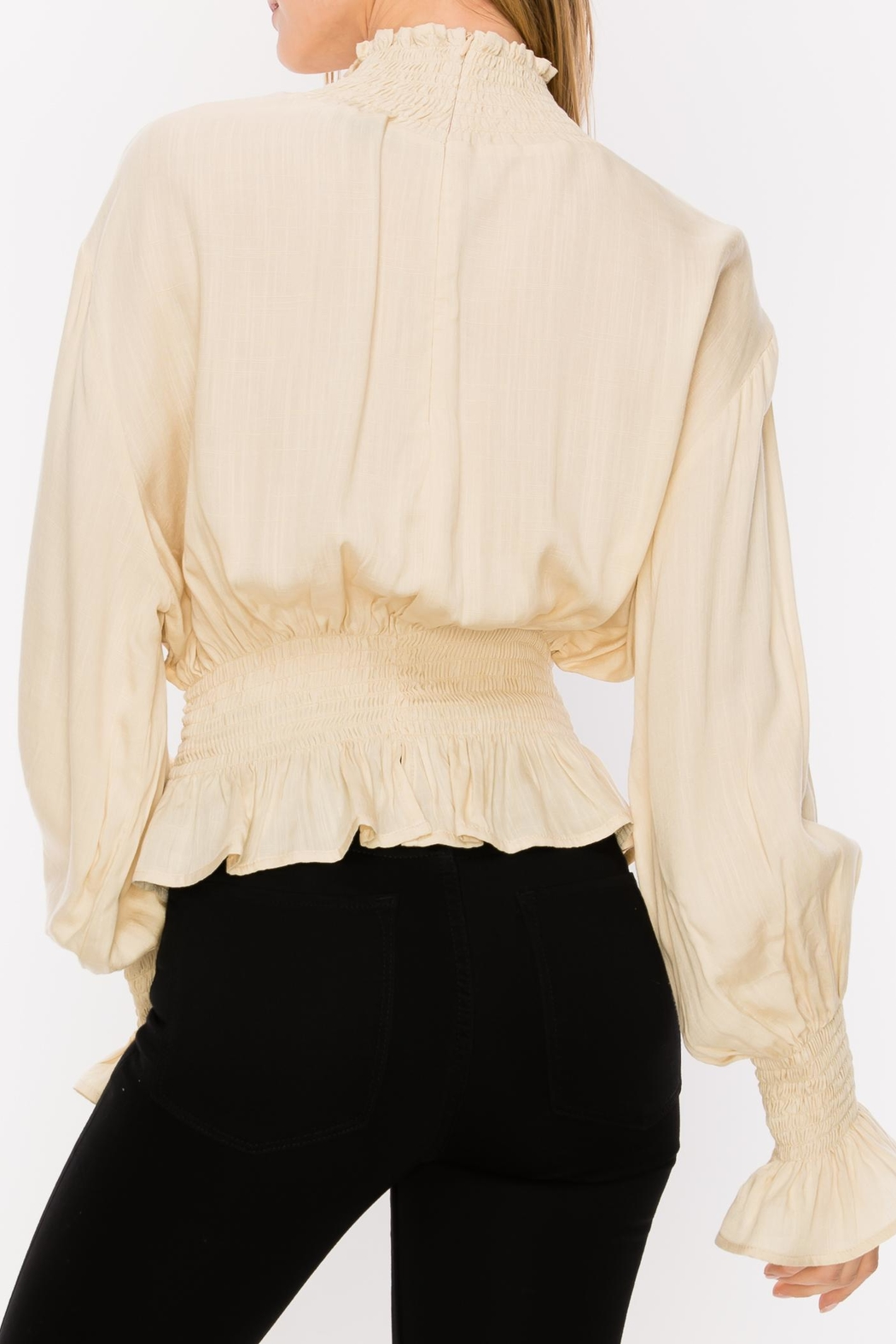 Favlux Pleated Blouse - Side Cropped Image