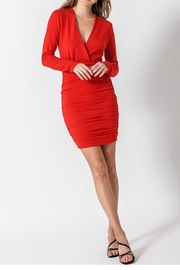 Favlux Side-Ruched Dress - Product Mini Image