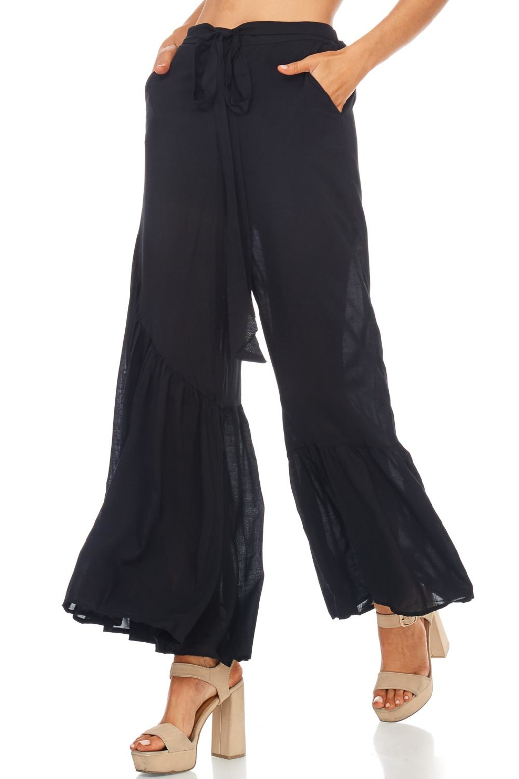 Favlux Bell Bottom Pants - Back Cropped Image