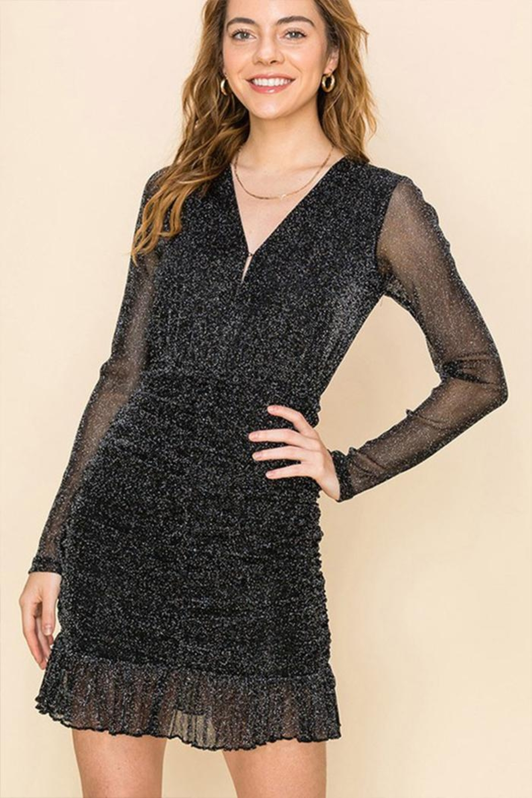Favlux Sparkle Dress - Front Cropped Image