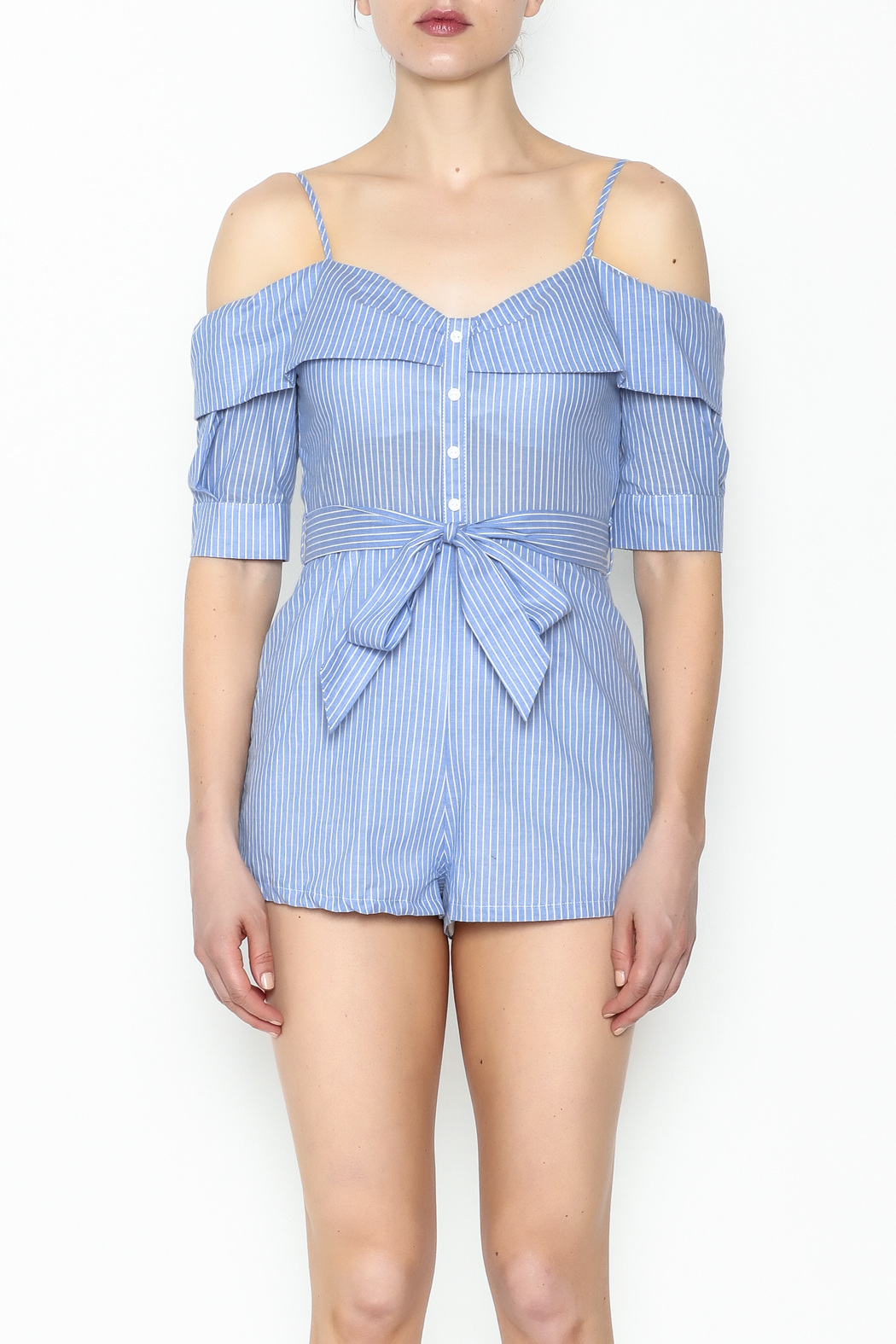 Favlux Striped Romper - Front Full Image