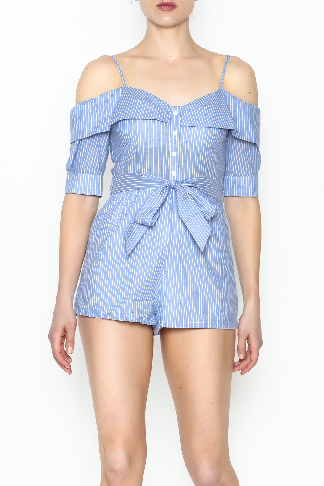 Favlux Striped Romper - Main Image