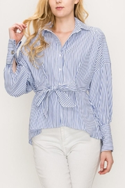 Favlux Stripe Wrap Top - Product Mini Image