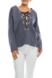 Favlux Tie Front Hoodie - Front cropped