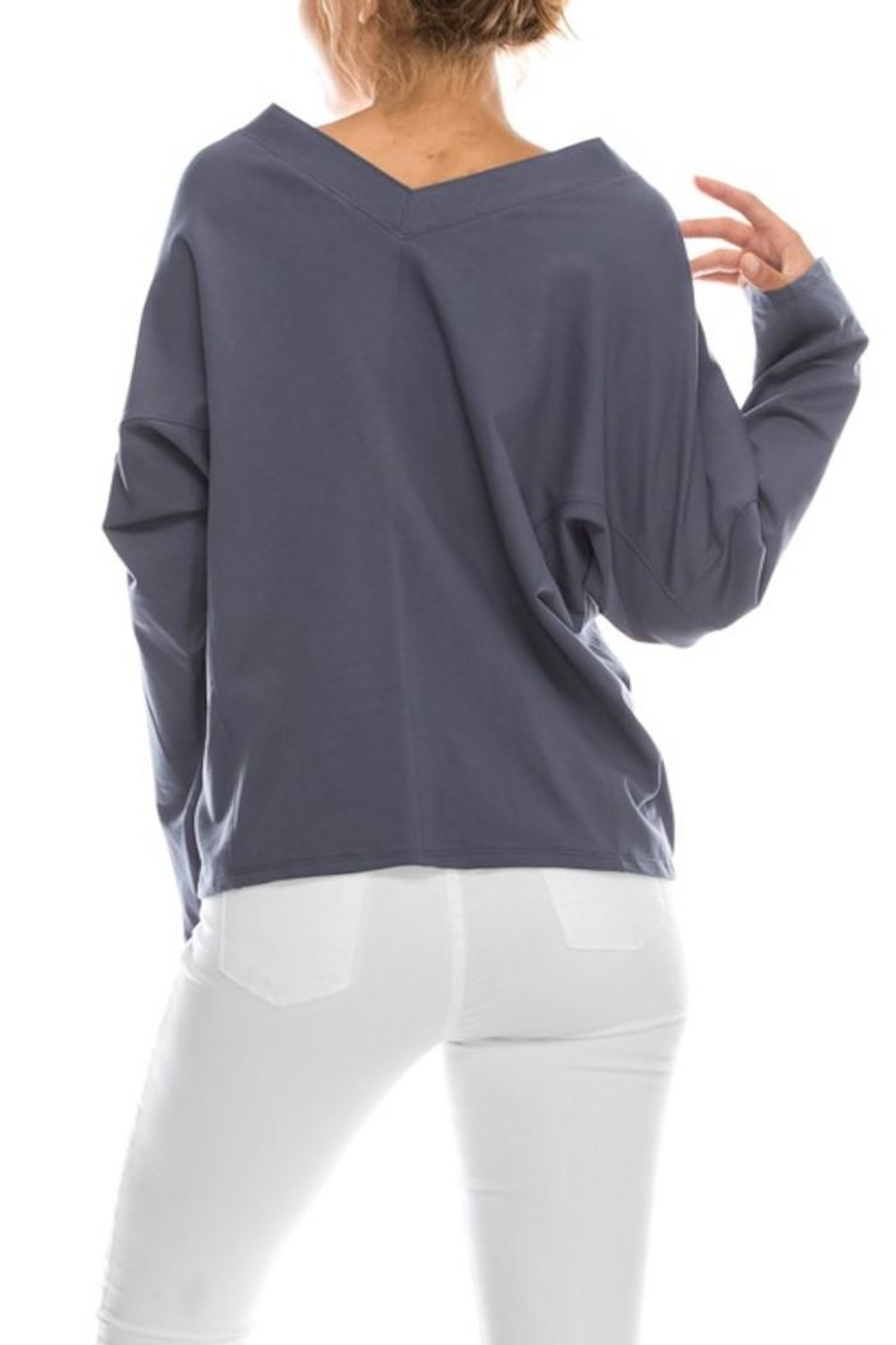Favlux Tie Front Hoodie - Side Cropped Image