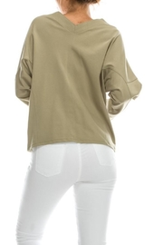 Favlux Tie Front Hoodie - Side cropped