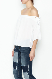 Favlux Tie Shoulder Top - Product Mini Image