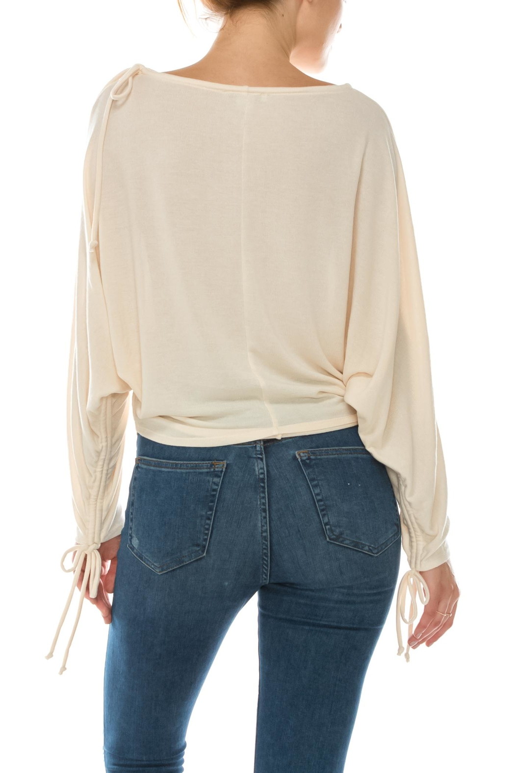 Favlux Tie Sleeve Top - Side Cropped Image