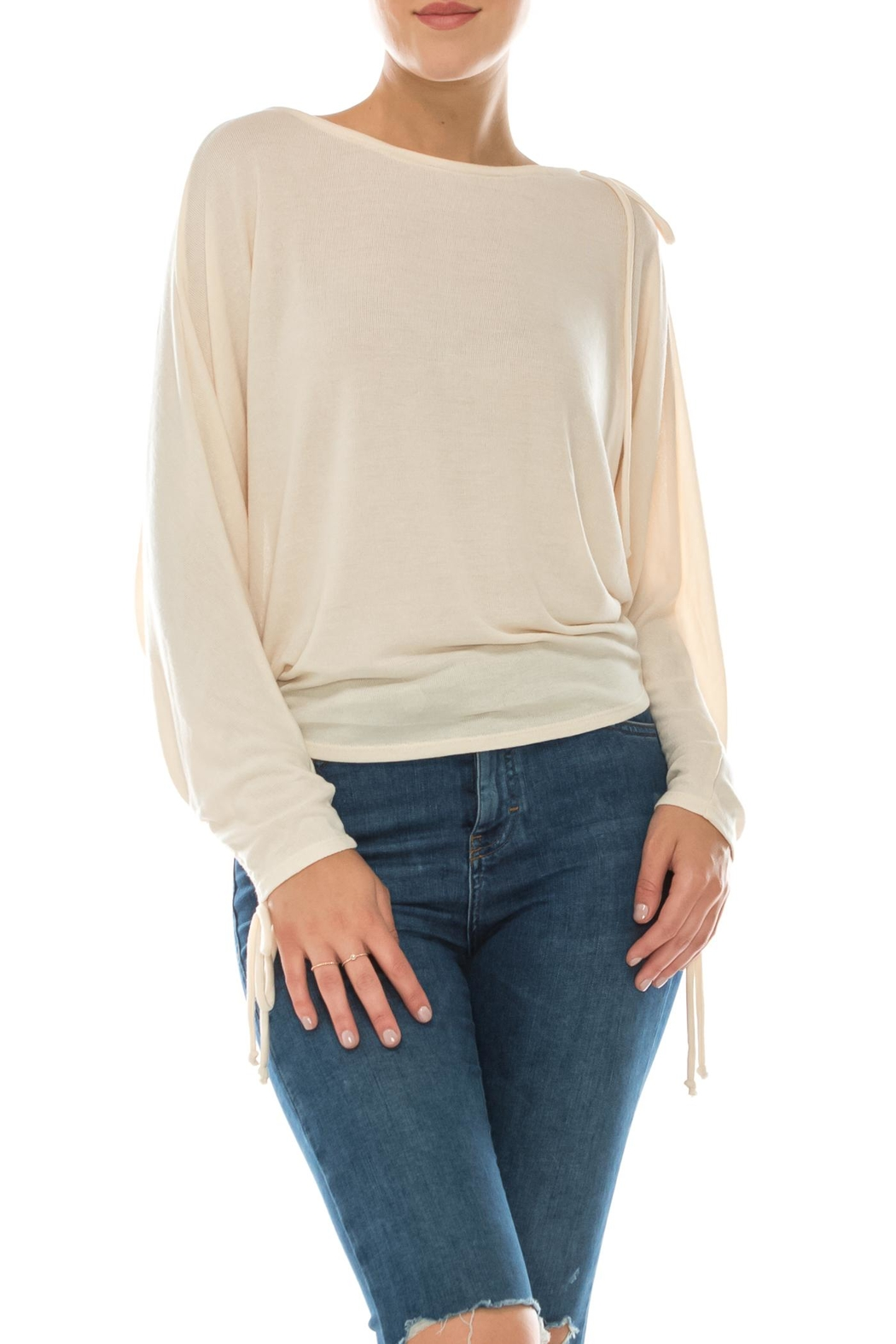 Favlux Tie Sleeve Top - Front Cropped Image