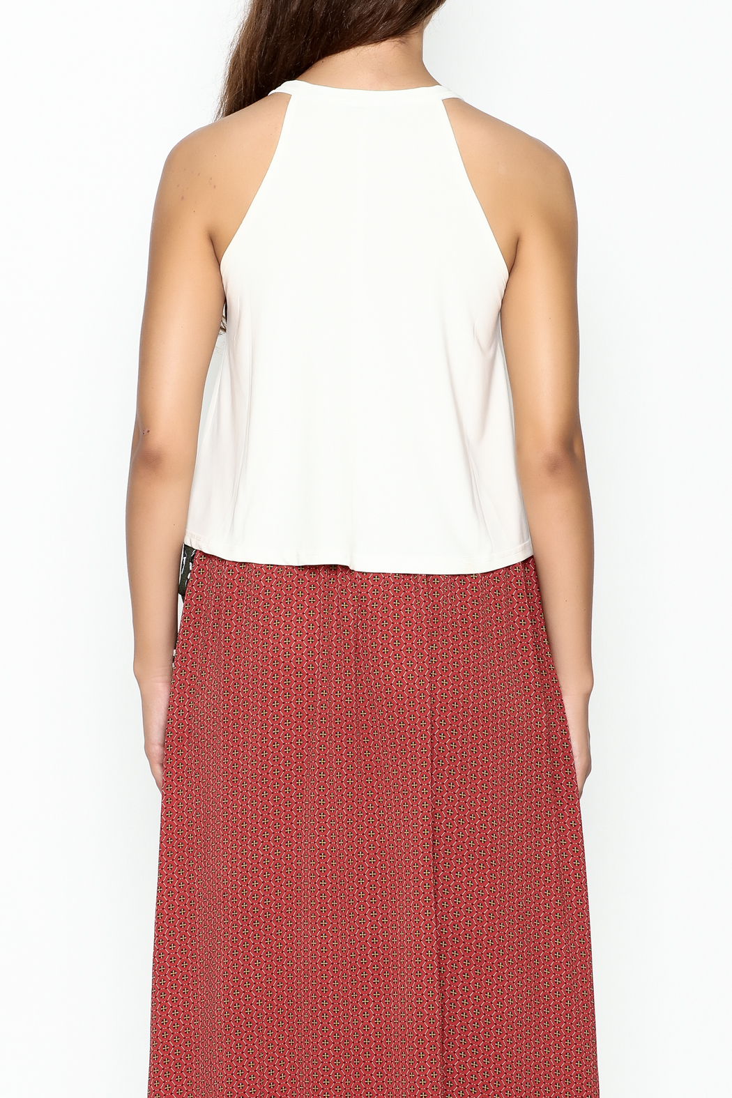 Favlux Tie Up Top - Back Cropped Image
